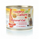 POWER OF NATURE Natural Cat  - wołowina  5 x 200g