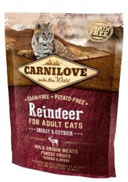 Carnilove Cat Reindeer Energy & Outdoor - renifer 400g