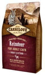 Carnilove Cat Reindeer Energy & Outdoor - renifer 2 kg