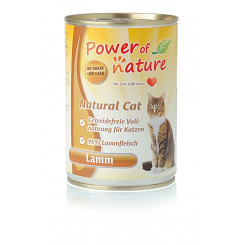 POWER OF NATURE Natural Cat - jagnięcina  2 x 400g