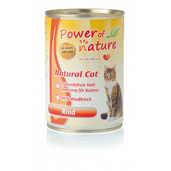 POWER OF NATURE Natural Cat  - wołowina  400g