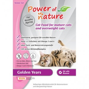 POWER OF NATURE Golden Years  (kurczak, królik, łosoś) 2 x 2 kg