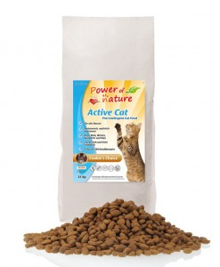 POWER OF NATURE Active Cat Cookie's Choice (kurczak+brązowy ryż)  2 x 2 kg