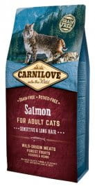 Carnilove Cat Salmon Sensitive & Long Hair - łosoś 6 kg