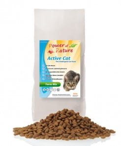 POWER OF NATURE Active Cat Farm Mix (kurczak, łosoś, jagnięcina + brązowy ryż)  2 x 2 kg