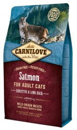 Carnilove Cat Salmon Sensitive & Long Hair - łosoś 2 kg